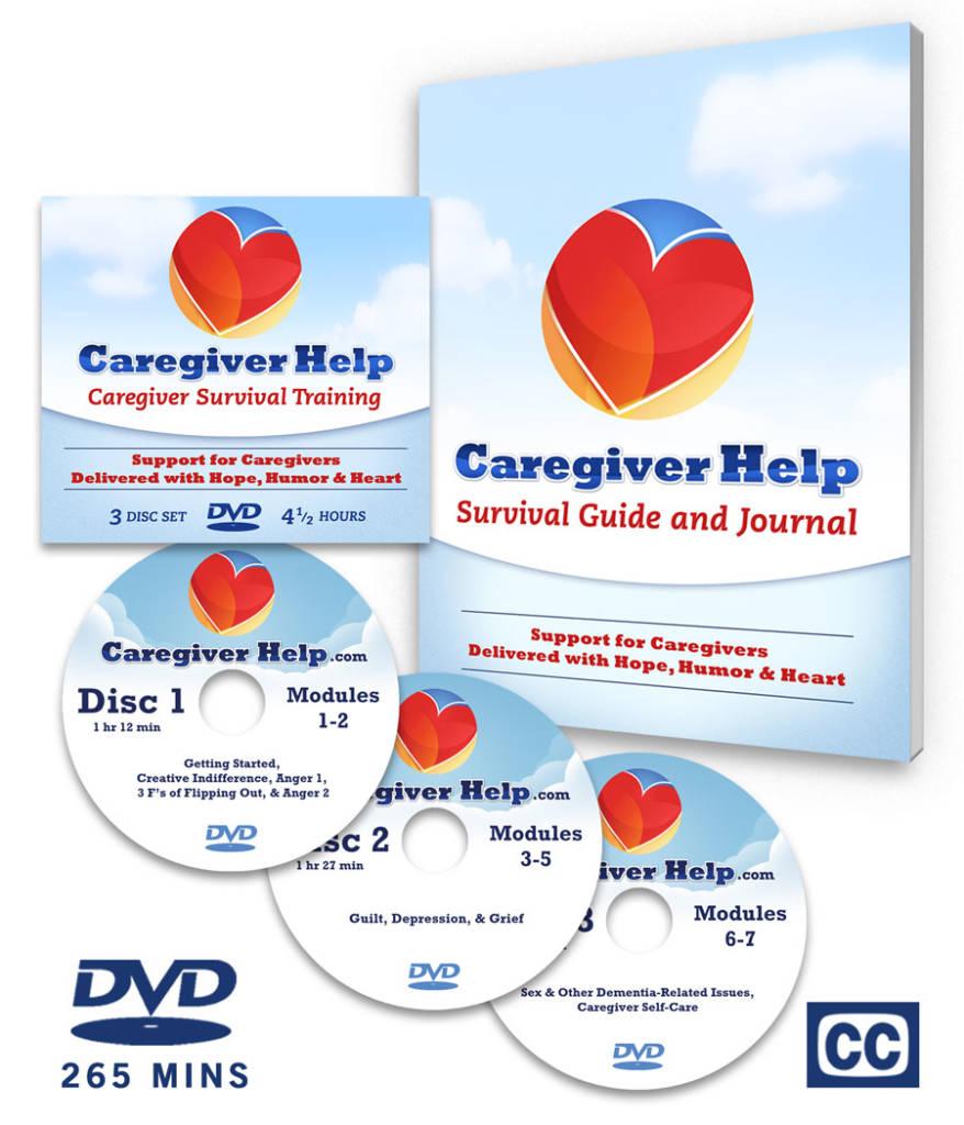 Caregiver Help Program DVD Set with Workbook