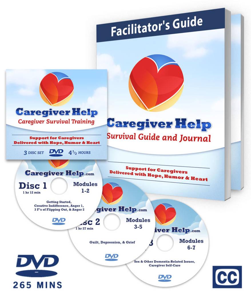 Group Caregiver Help Program DVD Set with Workbook for Facilitators